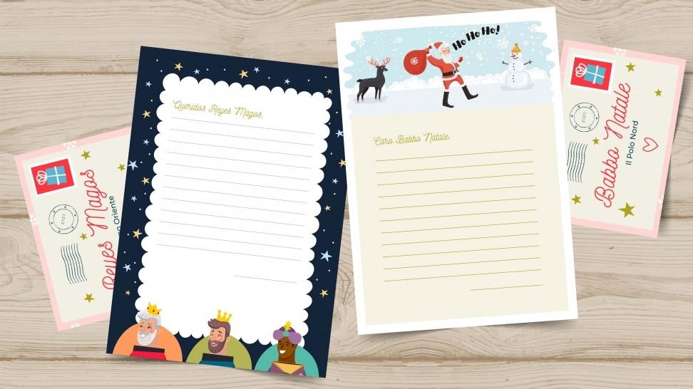 Carta a los Reyes Magos y Papá Noel