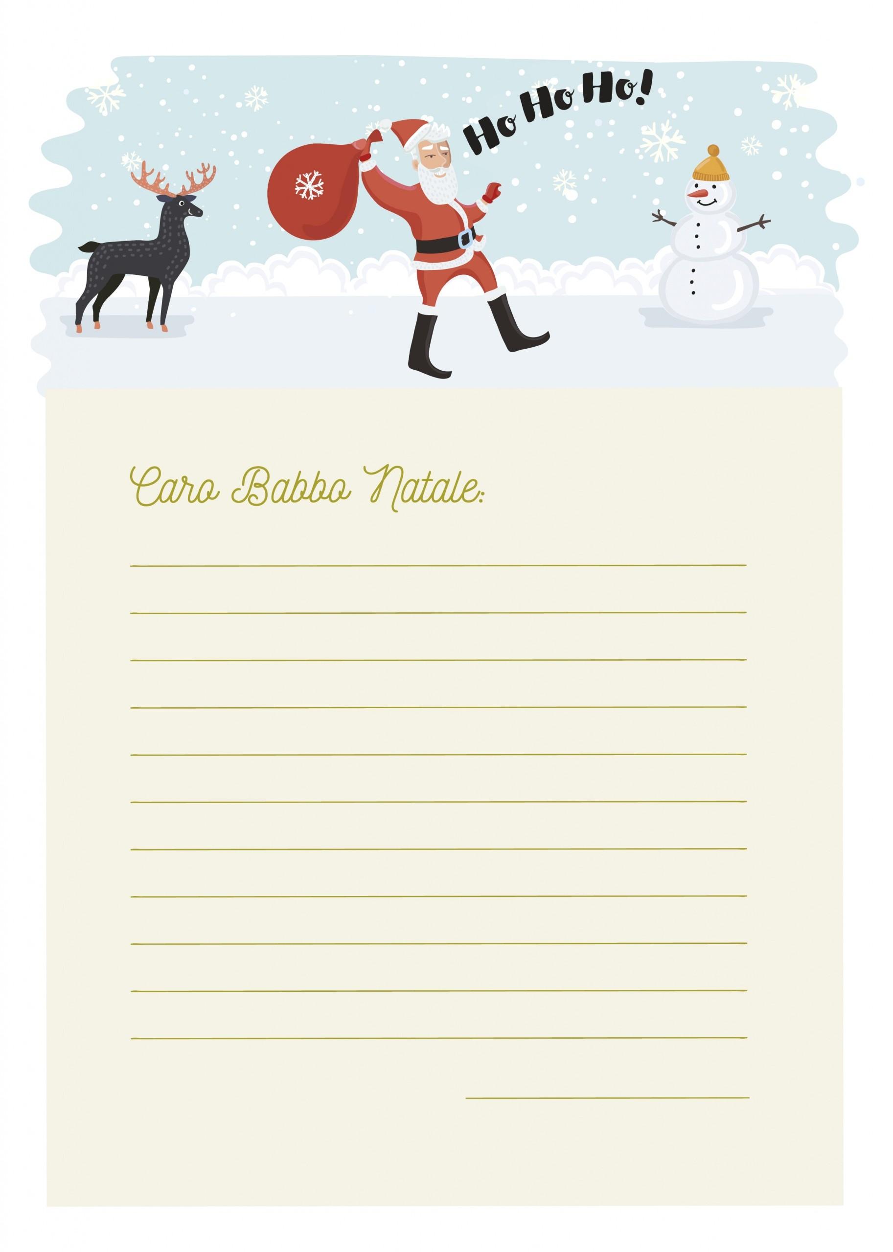 Carta Papá Noel italiano